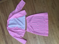 Pink and white two piece vintage Dieppe, E1A 5V4