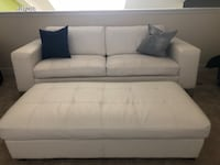Year Old White Love Seat With Ottoman Manassas, 20111