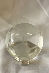 Mini Crystal Soccer Ball with Stand