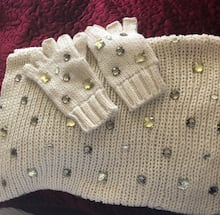 Betsey  Johnson Neck warmer and gloves