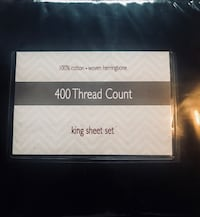400 thread count, king sheets Lexington, 44904
