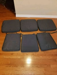 Indoor/outdoor 6 chair cushions 3 small 3 big  Calgary, T3L 3C5