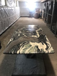 Pure Marble Slab Dining Table - with base Alexandria, 22314