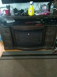 black wooden TV stand with flat screen television Salem, 24153