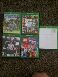 six Xbox One game cases Madera, 93637