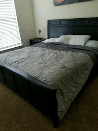 Bed frame. King size. Not selling the mattress  Humble