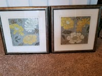 two silver wooden framed painting of flowers Manassas Park, 20111