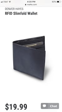 Denver Hayes Black Leather Men's wallet Mississauga, L5N 4L7