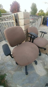 two gray padded rolling chairs Monrovia
