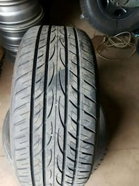 black auto tire with wheel Ajax, L1T 4R5