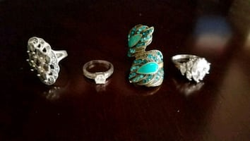 Rings $3 each or the lot for $10