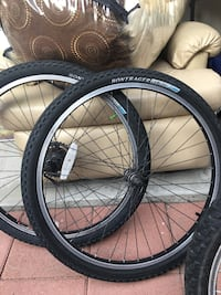 two black bicycle wheel with tires South Gate, 90280