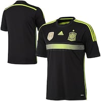 adidas Spain Black Away 2014 World Soccer Performance Jersey(Size:Youth XL) Round Lake, 60073