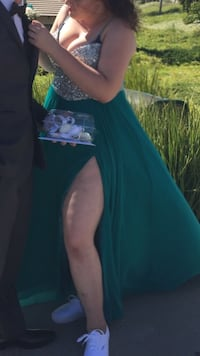 Turquoise-Green Prom Dress Los Angeles