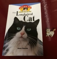Cat Book and Brooch For Sale