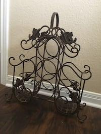 5 bottle iron wine rack Lorena, 76655