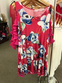 red and blue floral dress Saltillo, 38866