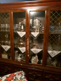 brown wooden framed glass display cabinet Washington, 20020
