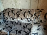 women's white and black couch