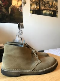 pair of brown suede boots ETOBICOKE