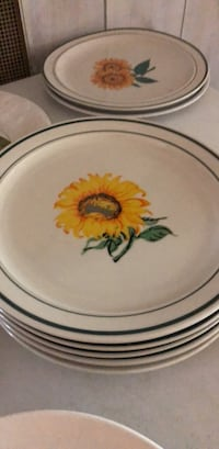 round white and red floral ceramic plate Tampa, 33614