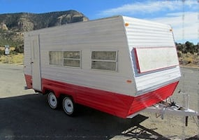 1978 Vintage Camper Classic Travel Trailer has been winterized.