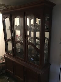 brown wooden framed glass display cabinet Yonkers, 10705