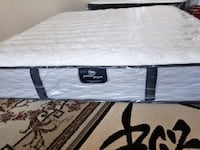 Thick Serta Perfect Sleeper Firm New King bed Coquitlam