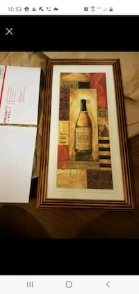 Framed and matted photo of wine Triangle, 22172