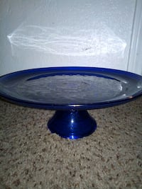 Blue Crystal cake stand