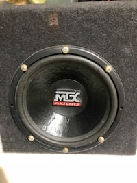 """12"""" MTX subwoofer and attached amp"""