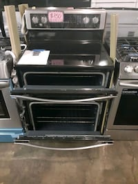 new scratch and dent whirlpool double oven electric range 6 months war Baltimore, 21223