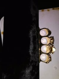 gold-colored and white gemstone encrusted bracelet 3728 km