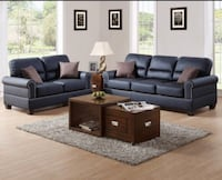 NEW BONDED LEATHER AND FABRIC SOFA & LOVESEAT AVAILABLE IN 3 COLORS Clifton, 07013