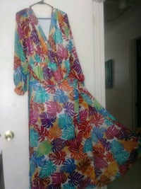 New beautiful long dress with high slit