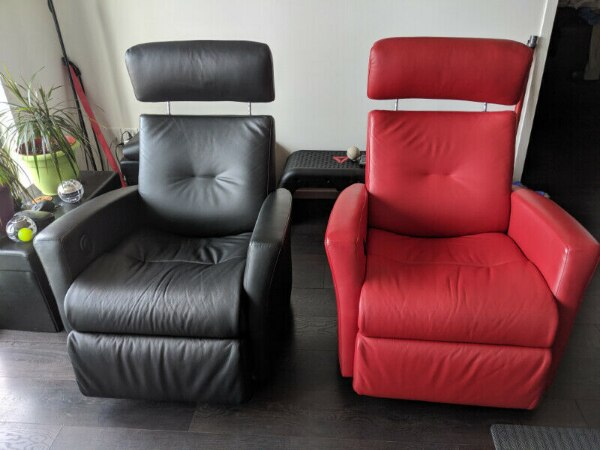 Two Norwegian IMG Recliners - Automatic, Rocking, Swiveling 5c817f12-f16b-44c4-9f1e-a22ced1a7833