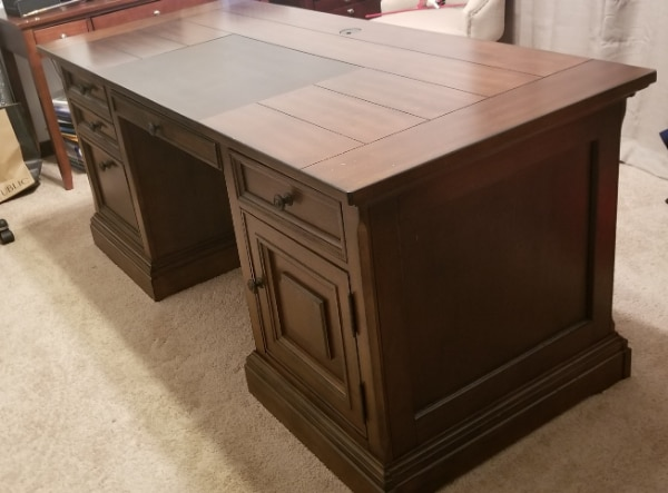 Executive Office Desk with matching Bookcase