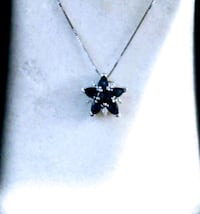 Sapphire and diamond necklace. Firm on price. Aurora, 80016