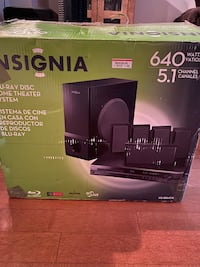 Insignia blu-ray disc home theater system Arlington, 22201