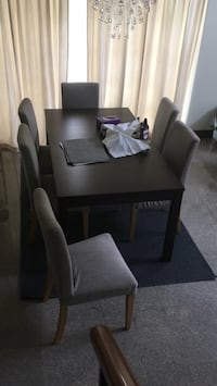 Dining table set comes with 6 chairs. Used for 8 month only. Great condition  Bukit Batok, 659085