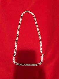 silver chain link necklace with lobster lock Calgary, T3J 3A7