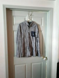 gray and black button-up long-sleeved shirt Edmonton, T5L 0S3