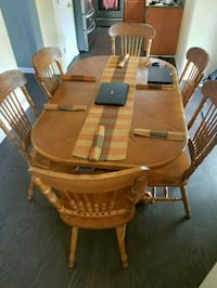 brown wooden dining table set Kennesaw, 30144
