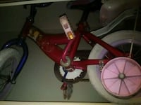 toddler's red and white bicycle Fresno, 93706