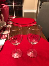 2 GOLD RIM CRYSTAL WINE GLASSES 2000 PERFECT FOR ANY OCCASION IN 2000 Grand Bay, 36541