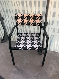 Outdoor chairs. Black and white. Set of four. 1 year old. Excellent condition.  Toronto, M4Y 1T1