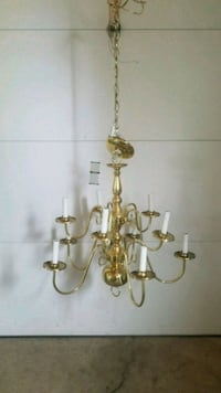 Hanging Brass Chandelier Perry Hall, 21128