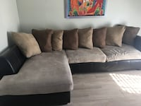 brown fabric sectional sofa with throw pillows Kissimmee, 34744