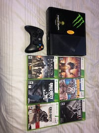 Black Xbox 360 E With 6 Games and Games Installed!! Belton, 76513