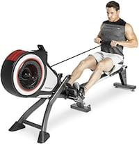 Marcy Foldable Turbine Rowing Machine Rower with 8 Resistance Setting